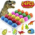 24 Pcs Easter Eggs Hunt Dinosaur Eggs, Large Dinosaur Eggs That Hatch in Water Dinosaur Party Favors for Kids Boys Easter Basket Stuffers Easter Gifts (A-Large Color Dinosaur Eggs)