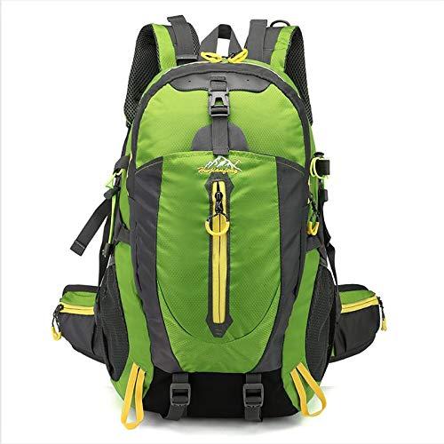 Wanderrucksack 35L, Herren Damen Wasserdichter Rucksack Trekkingrucksack Reiserucksack Outdoorrucksack für Wandern Radfahren Klettern Bergsteigen und Reisen Sport (Color : Green)