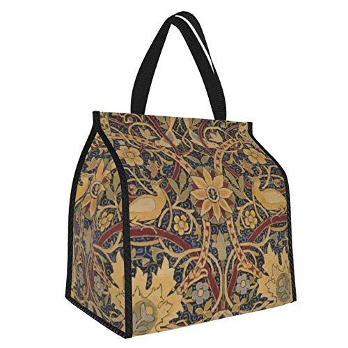 William Morris Bullerswood Tapiz floral de moda portátil bolsa de aislamiento para hombre mujer bolsa de almuerzo bolsa de picnic bolsa de aislamiento de mano para el trabajo, escuela, etc