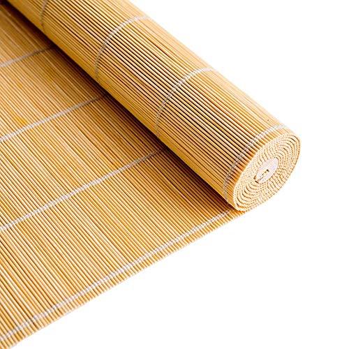 LMZJLU Sombra Exterior Enrollable, Persianas Enrollables con 50% De Protección UV, Cortina De Bambú con Filtro De Luz para La Oficina del Restaurante En El Hogar (Tamaño: W 100 × H 130cm)
