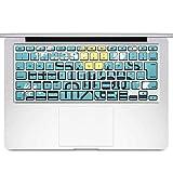 igsticker MacBook Air 13inch 2010 ~ 2017 専用 キーボード用スキンシール キートップ ステッカー A1466 A1369 Apple マックブック エア ノートパソコン アクセサリー 保護 014996 秋 味覚 果物 月 うさぎ