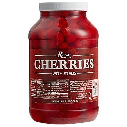 Regal Maraschino Cherries with Stems  1 Gallon