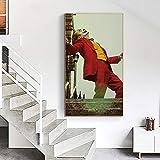 ganlanshu Decoración de la Pared película Retrato póster Arte de la Pared Lienzo Payaso Imagen para la decoración de la habitación,Pintura sin Marco,70X126cm