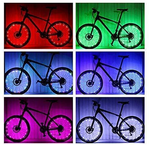 LED Fahrradbeleuchtung - Wasserdicht Super Bright Rad Licht gesetzt, Mountain Bike Light, 2 Licht Modi (Colorful)
