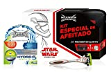 Wilkinson Hydro 5 Sensitive Star Wars - Pack de afeitado con maquinilla recargable, 4 cuchillas