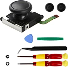Replacement Repair Kit Analog Joystick Replacement with 3D Joystick for Nintendo Switch Joy-Con Controller - Includes three-winged screwdriver and cross tool + 2 thumb lever caps + pliers and tools