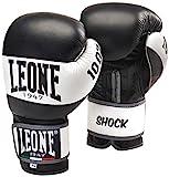 LEONE 1947 Shock Guantes de Boxeo, Unisex Adulto, Shock, Negro