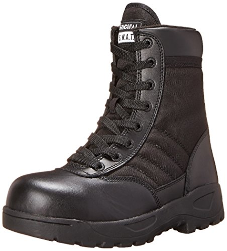 Original S.W.A.T. Men's Classic 9' Light Safety Toe Work Boot,Black,12...
