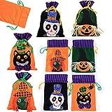4 Pcs Sacchetto di Caramelle di Halloween, Dolcetto o Scherzetto Sacchetti in Feltro di Halloween Principessa Gufo Zucca Castello Caramella Biscotti Cioccolato Regalo di Halloween (4PCS)