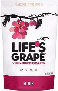 Life's Grape Mini Vine Dried Fruit | Raisins Revamped | No sugar added | California Grown | Vegan, Non-GMO, Gluten Free, Kosher, 120 calories | 13 oz (1) Resealable Pouch