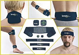 Serenity 2000   Full Body Magnetic Therapy Set for Pain Relief – Eight-Piece Set, Small/Medium