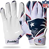 Franklin Sports New England Patriots Youth NFL Football Receiver Gloves - Receiver Gloves For Kids - NFL Team...