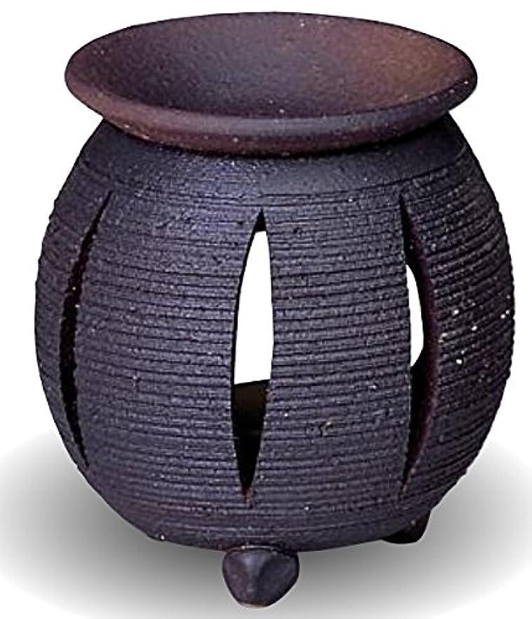 地上の少ないセッション常滑焼 茶香炉(アロマポット)径10×高さ11.5cm