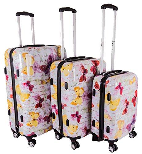 HBY-0114 FRENZY SET OF THREE 19' 24' 28' MF Four Wheeled Luggage Case