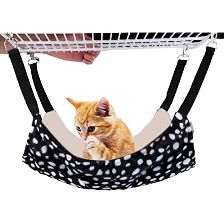 N\A Durable Cat Hammock Cool Mesh Movable Hammock Cat Hanging Bed for Pets
