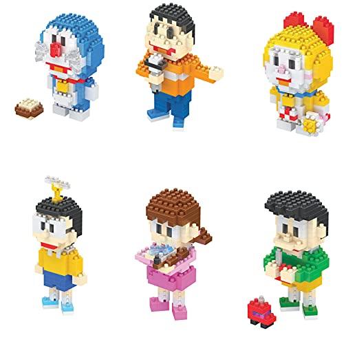 BAIDEFENG Mini Blöcke Cartoon Kreative Doraemon Baustein Spielzeug 3D Puzzle Modell Mini Blöcke Micro Ziegelsteine DIY Spielzeug Geschenk Für Kinder Erwachsene