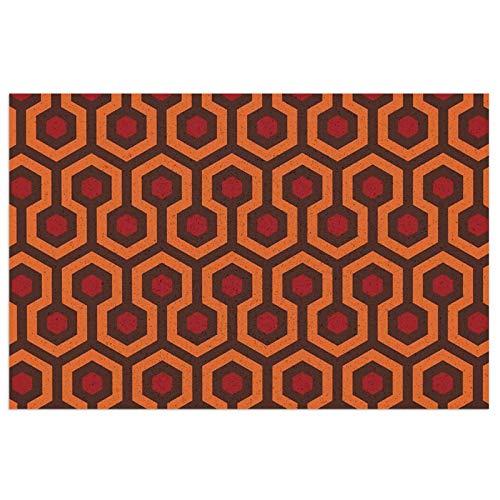 The Shining Carpet - Felpudo antisuciedad para interior y exterior, lavable, resistente y antideslizante, para entrada de zapatos, 23,6 x 15,7 cm