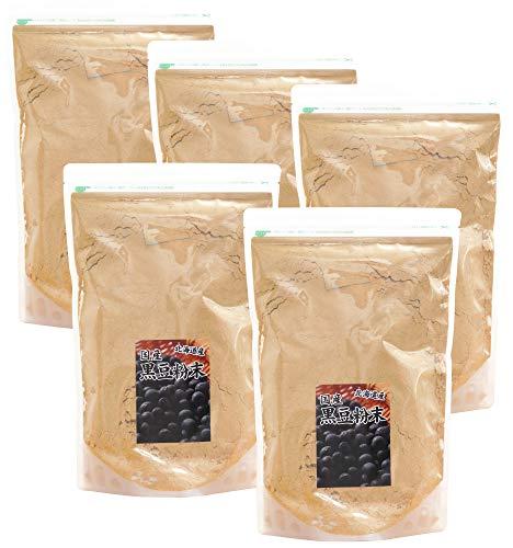 自然健康社 北海道産・黒豆粉末 1kg×5個 チャック付き袋入り