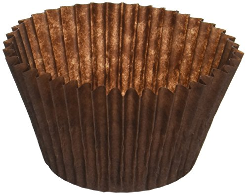 DECONY Brown Cupcake Liners Standard Size Cupcake Paper Baking Cup Liners - appx. 2'' x 1-1/4=4.5- appx. 500/ pack
