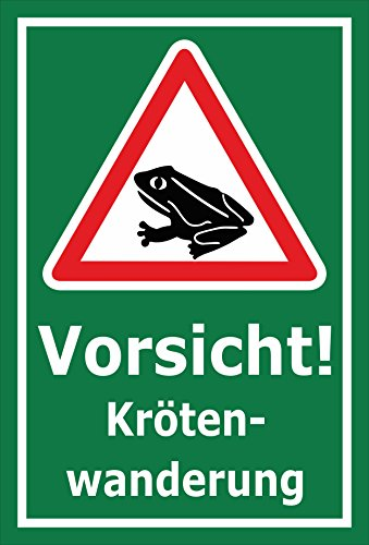 Melis Folienwerkstatt Schild Kröten-Wanderung - 30x20cm - 3mm Aluverbund – 20 VAR S00359-101-E