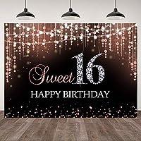 lovedomi 9x6ft 甘い16歳の誕生日パーティーの女の子ローズゴールド光沢のあるダイヤモンド水玉写真背景写真スタジオブース家族休暇誕生日パーティースタジオ小道具写真ビニール素材