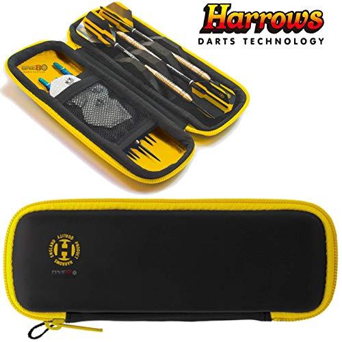Harrows Blaze Dart-Etui, robust und langlebig, für komplett fertig montierte Darts, gelb