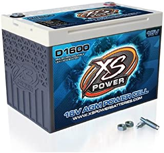 XS Power D1600 16V 2,400 Amp AGM Battery with 3/8