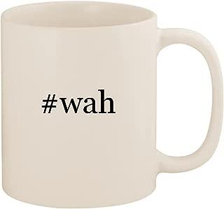 #wah - 11oz Ceramic Coffee Mug Cup, White