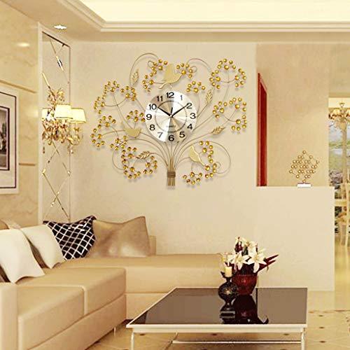 Horloge Horloge Murale Salon Contemporain Contracté Horloge Chambre Chambre Horloge Mute Murale Montre Grand Contemporain Quartz Contracté (Couleur : Or)