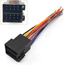 ETbotu Universal Male ISO Radio Wire Wiring Harness Adapter Connector Car Adaptor Plug for Volkswagen/Citroen/Audi Car Standard Stereo