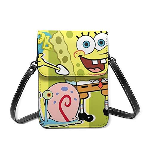 Spongebob And Gary Cell Phone Purse Small Crossbody Bag Wallet Shoulder Bag Card Holder Handbag For Women
