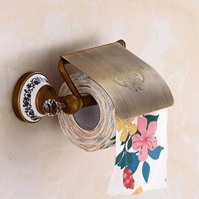 Door-Paper, Pure Copper Ceramic Crystal Toilet Paper Bathroom top Range Equipment Toilet Paper Antiquities Framework
