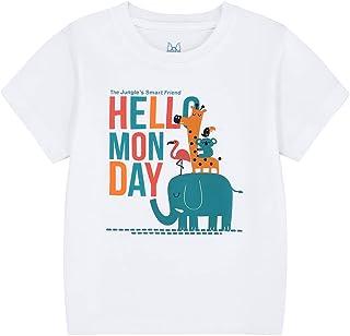 COOLKIDS Toddler Boy T-Shirt Elephant Short Sleeve Top Summer Tees Animal Graphic Crewneck Birthday Boys Shirt