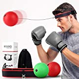 ADolinGo Boxing Reflex Ball Set, Two Different Level Training Balls On String with Headband, Boxing Speed Balls for Training Reaction Speed, Fighting Skills and Hand-Eye Coordination of Kids & Adults
