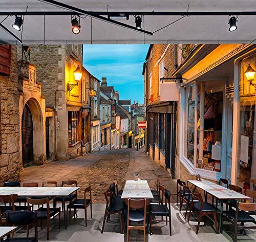 Suwhao aangepaste muurschildering behang Europese Italië straat stad landschap schilderij foto wandschilderijen restaurant café interieurdecoratie behang 250x175cm