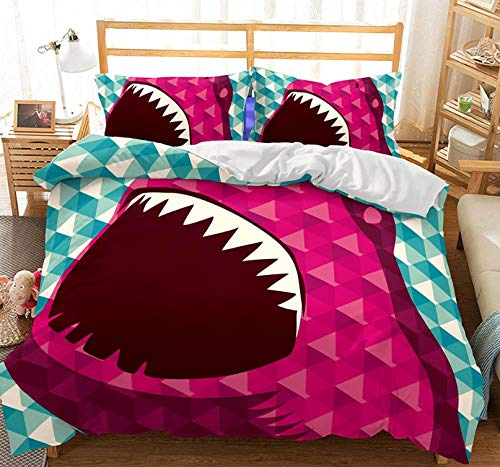ZLMW Brushed Duvet Cover Set 200X200CmFlower PatternBrushed Microfibre Quilt Duvet Cover Set,Easy Care Anti-Allergic Soft & Smooth,Gift for Teens Girls, with 1 Quilt Cover+2 Pillowcases