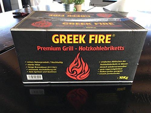Greek Fire Holzkohlebriketts 10kg