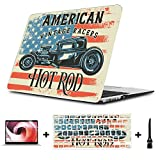 MacBook Air 2018 Case Tshirt Poster Design Illustration Hot Rod Plastic Hard Shell Compatible Mac Air 11' Pro 13' 15' MacBook Air Accessories Protection for MacBook 2016-2019 Version