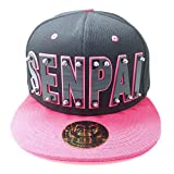 Senpai HAT in Black with Pink Brim