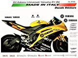Vulturbike Kit de Pegatinas Universales Yamaha R6 Negros