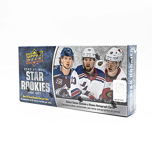 2020‐21 Upper Deck NHL Rookie Box Set - Complete 25 Card Set - Chance for 1 Autograph