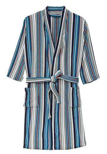 Kingsize Men's Big & Tall Terry Velour Kimono Robe, Black Tall-2Xl/3X