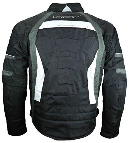 Heyberry Textil Motorrad Jacke Motorradjacke Schwarz Grau Gr. XL - 5