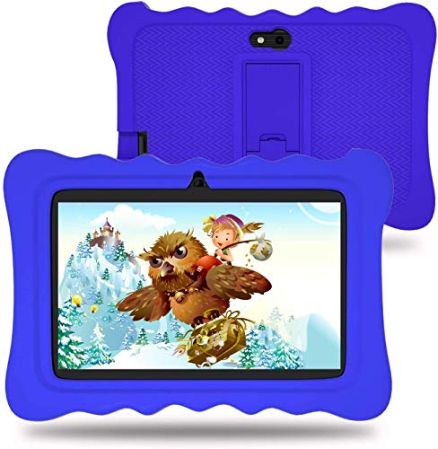 Wecool Kids Tablet 7 inch with Camera, 2GB RAM 16GB ROM, Android 9.0 Pie (GMS Certified), WiFi Kidoz Pre Installed, IPS HD Display, WiFi, Kid-Proof - Blue