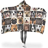 hfrhkudl Animal Dog Soft Various Types Hoodie Wearable Super Soft Throw Blanket Feel Delicate for Bed in Spring or Autumn or Winter Warm Style White 60x80 inch