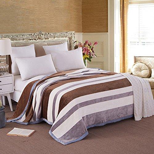 Couvertures Chambre Lit Couvert Casual Stripe Motif Doux Et Confortable Taille: 200 * 230cm