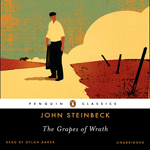 The Grapes of Wrath                   By:                                                                                                                                 John Steinbeck                               Narrated by:                                                                                                                                 Dylan Baker                      Length: 21 hrs and 1 min     7,204 ratings     Overall 4.6