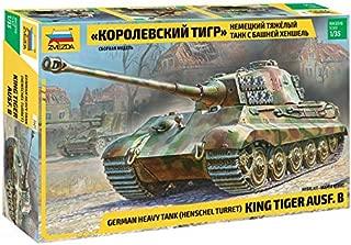Zvezda - Plastic Model Kit - German Heavy Tank (Henschel Tower) King Tiger AUSF.B - Scale 1/35 Lenght 39.5 cm / 11.6