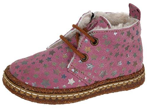 OCRA Ocra 493M Mädchen Schnürhalbschuhe mit Sternenmuster, Pink (81889 rosa), EU 22