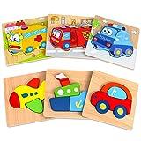 Dreampark 子供のおもちゃ人気 木製パズル モンテッソーリ教育おもちゃ ジグソーパズル6パック マッチング 形合わせ 7歳以上 カラフル 積み木 出産祝い お誕生日 イースタープレゼント 男の子 女の子